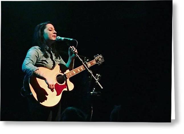 @lspraggan #brighton #livemusic #music Greeting Card by Natalie Anne