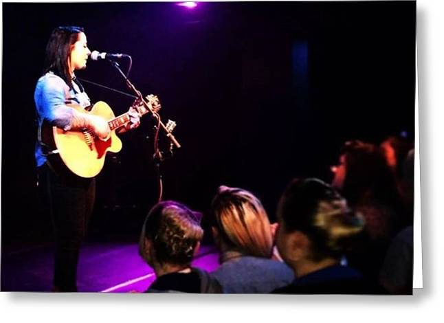 @lspraggan #hometour #home #livemusic Greeting Card by Natalie Anne