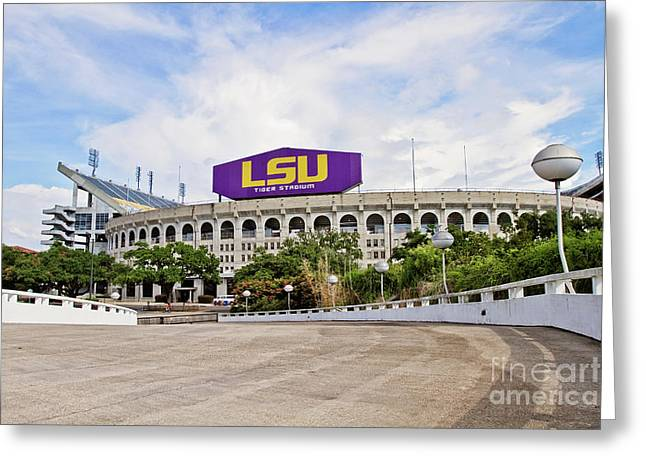 Lsu Tiger Stadium Greeting Card