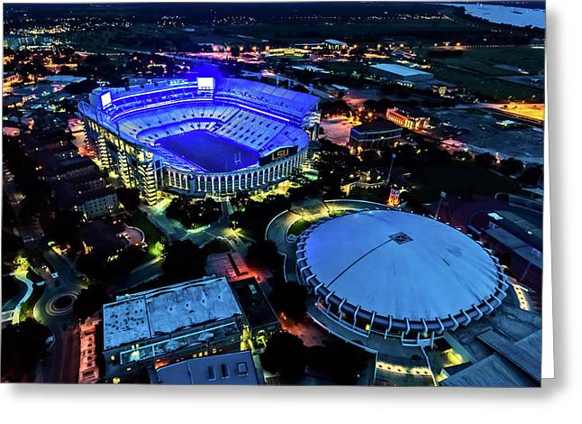 Lsu Tiger Stadium Supports Law Enforcement Greeting Card