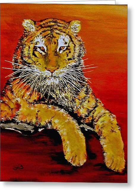 Lsu Tiger Greeting Card by Stephen Broussard