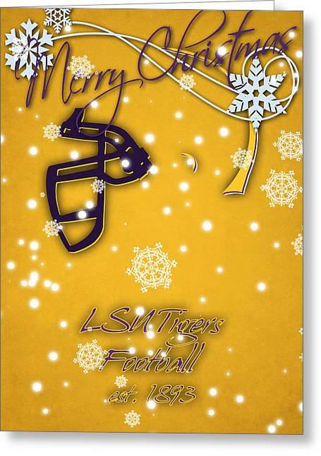 Lsu Tigers Christmas Card 2 Greeting Card by Joe Hamilton