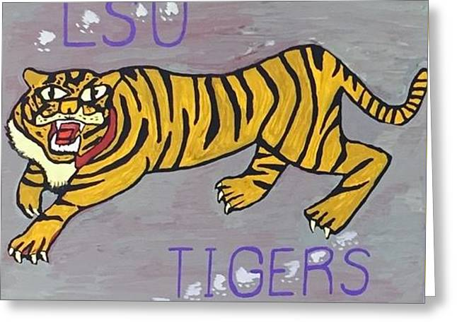 Lsu Tigers Greeting Card by Jonathon Hansen