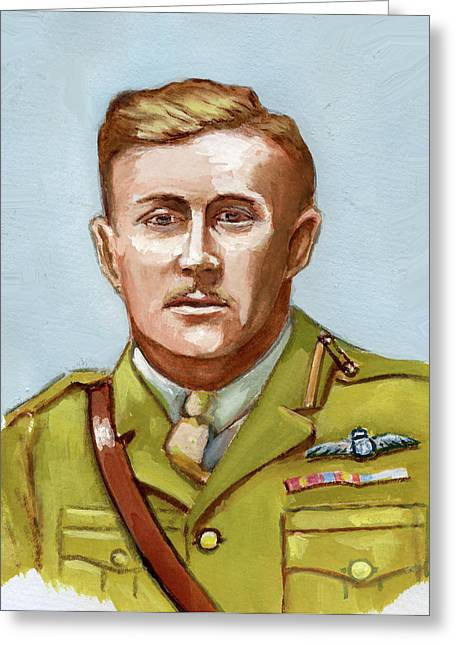 Lt.col. William Bishop Greeting Card by Murray McLeod