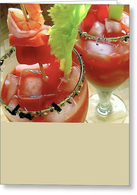 Luau Bloody Mary Greeting Card by James Temple