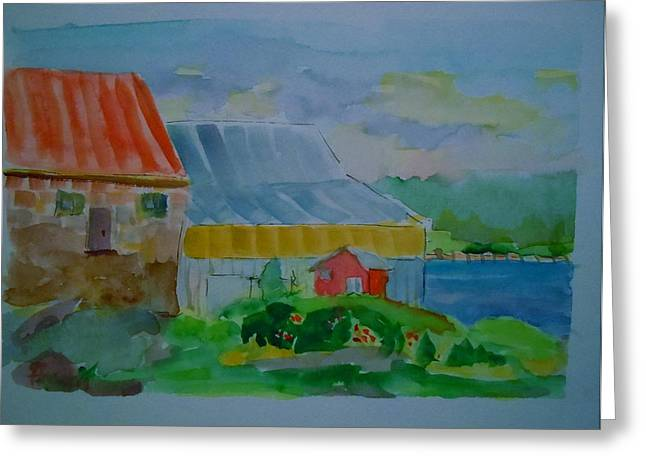 Lubec Fishery Greeting Card by Francine Frank