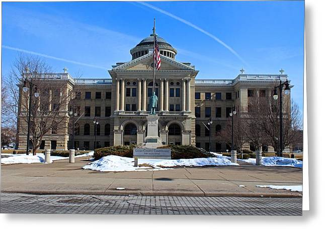 Lucas County Courthouse I Greeting Card by Michiale Schneider