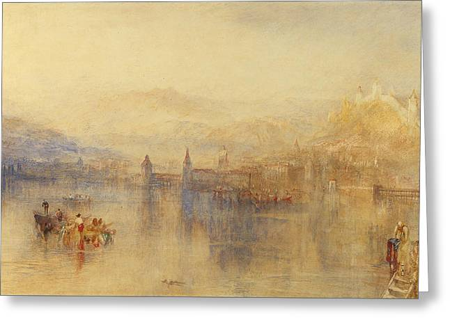 Lucerne From The Lake Greeting Card by Joseph Mallord William Turner