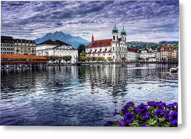 Lucerne In Switzerland  Greeting Card