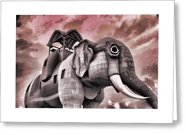 Lucy The Elephant Greeting Card by Allen Beatty