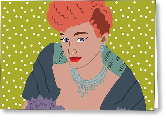 Lucille Ball Greeting Card by Nicole Wilson