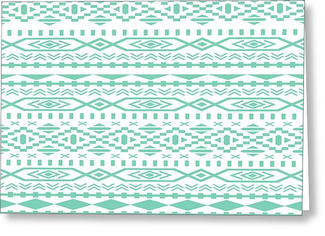 Lucite Green Aztec Greeting Card