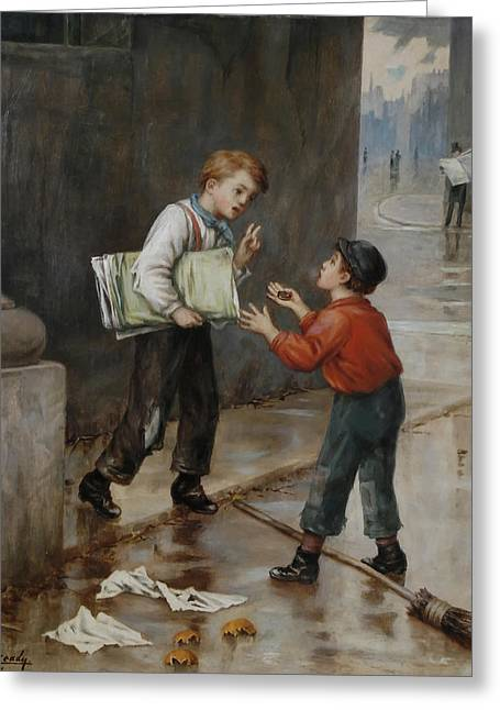 Luck In A Moment Greeting Card by Augustus Mulready