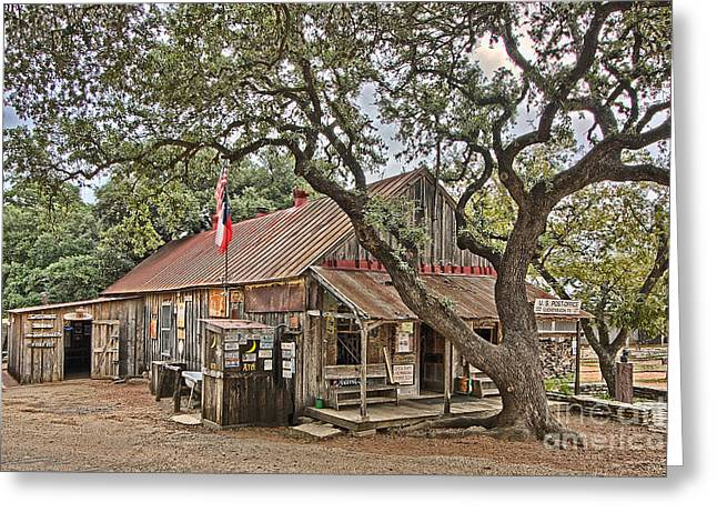 Luckenbach Post Office And General Store_1 Greeting Card