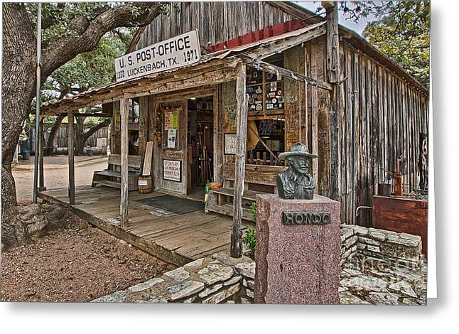 Luckenbach Post Office And General Store_2 Greeting Card