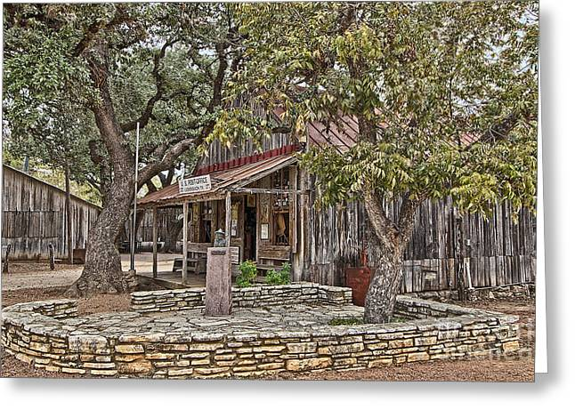 Luckenbach Post Office And General Store_3 Greeting Card