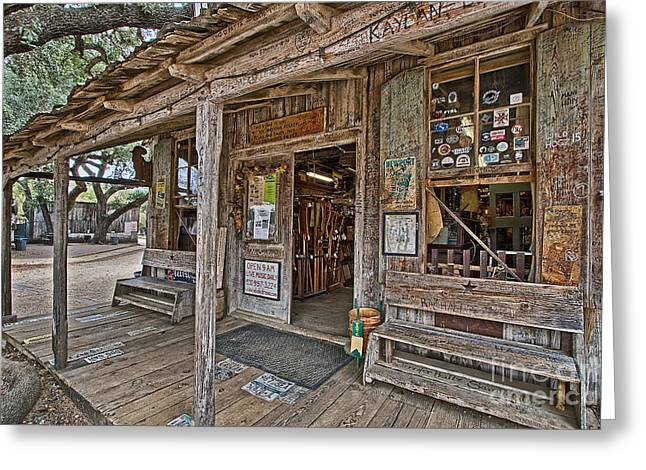 Luckenbach Post Office And General Store_4 Greeting Card