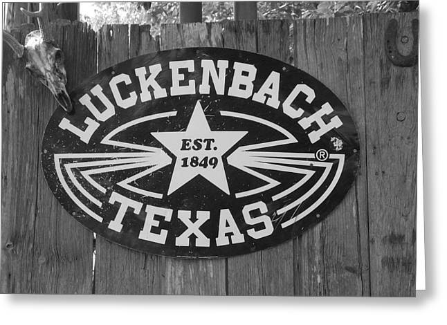 Luckenbach Texas Est. 1849 Sign Greeting Card