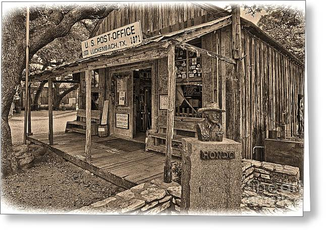 Luckenbach, Tx Post Office Greeting Card