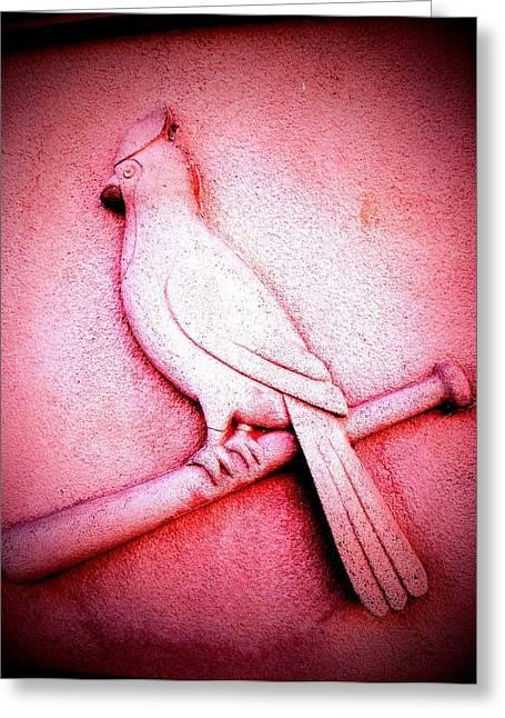 Lucky Bird Greeting Card by John McGarity