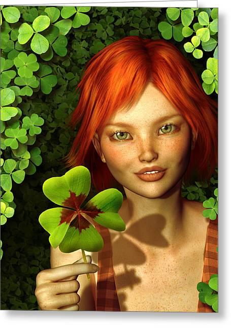 Lucky Charm Fairy Greeting Card