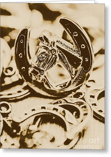 Lucky Cowboys Charm Greeting Card by Jorgo Photography - Wall Art Gallery