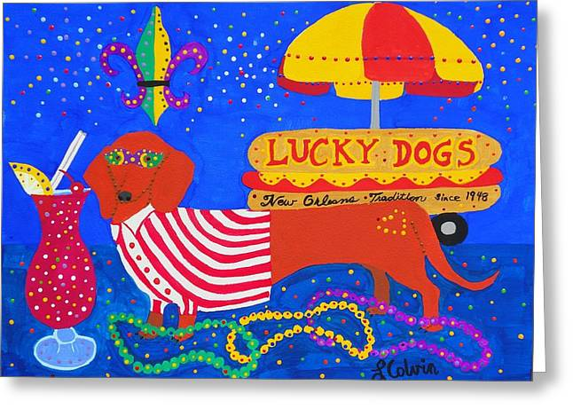 Lucky Dogs Greeting Card
