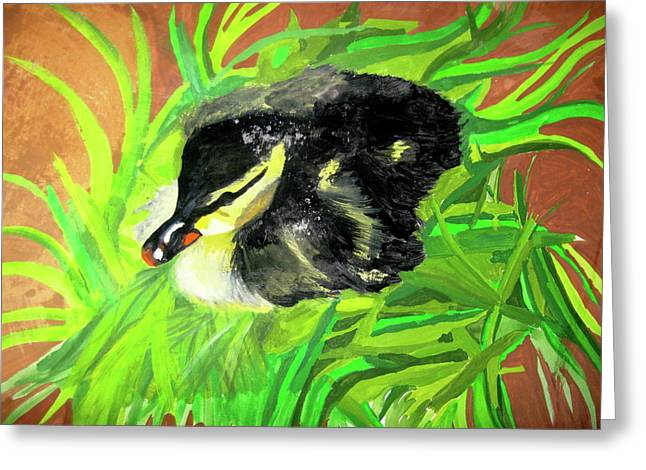 Lucky Duckling Greeting Card