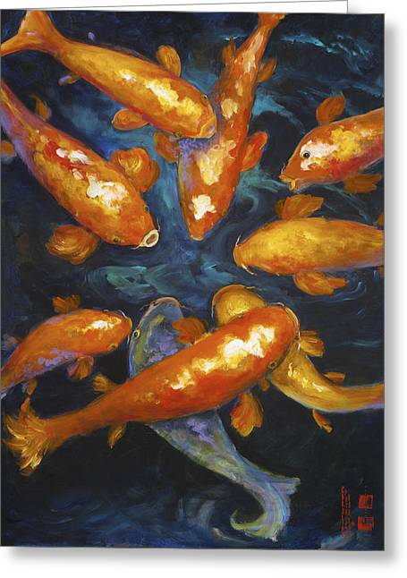 Lucky Koi Greeting Card