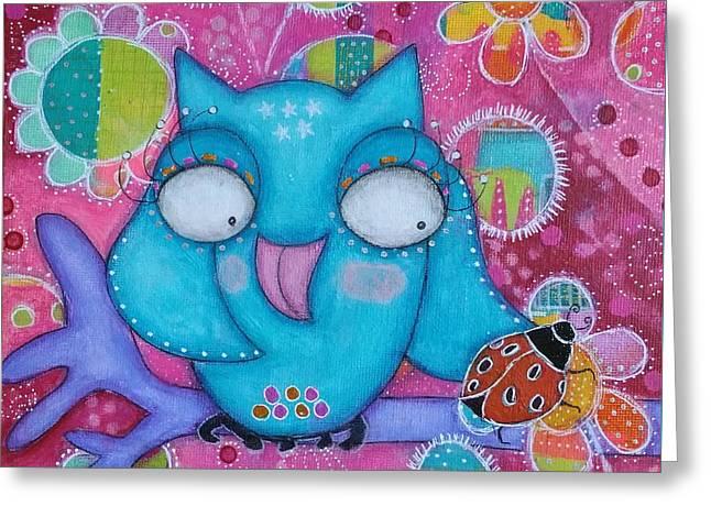 Lucky Owl Greeting Card