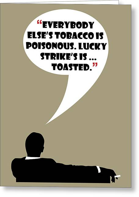 Lucky's Tobacco - Mad Men Poster Don Draper Quote Greeting Card