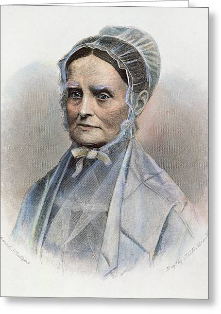Abolition Photographs Greeting Cards - Lucretia Coffin Mott Greeting Card by Granger