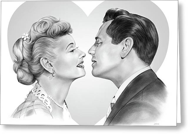 Lucy And Desi Greeting Card