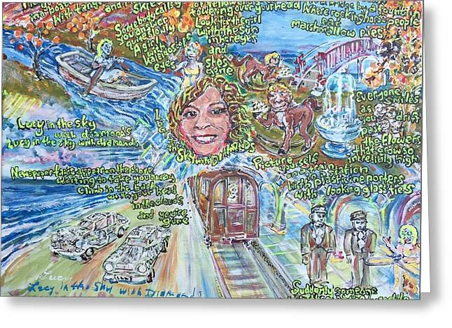 Lucy In The Sky With Diamonds Greeting Card by Jonathan Morrill