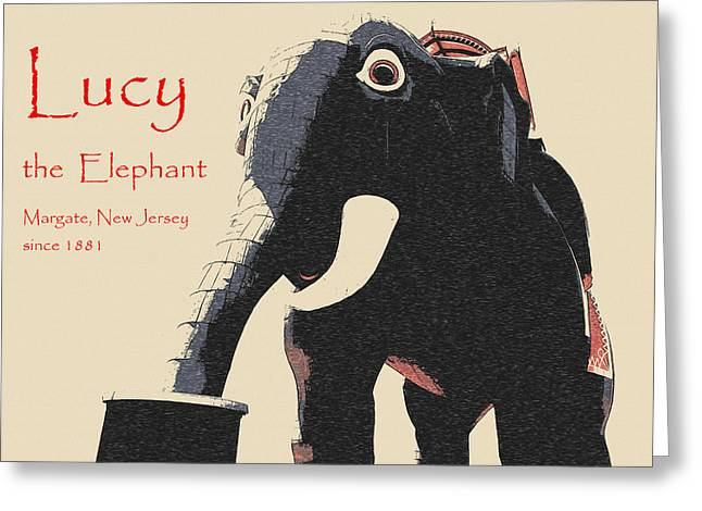 Lucy The Elephant Since 1881 Greeting Card