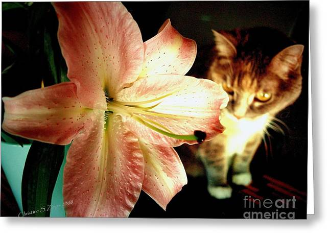 Lucy With Lily Greeting Card