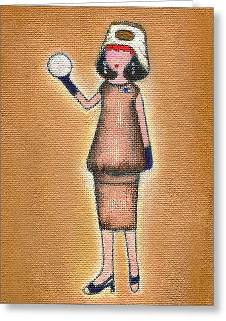 Lucy's Pearly White Ball Greeting Card by Ricky Sencion