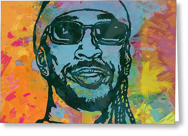Ludacris Pop Stylised Art Poster Greeting Card by Kim Wang