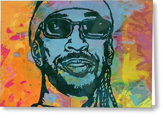 Ludacris Pop Stylised Art Poster Greeting Card by Kim Wang