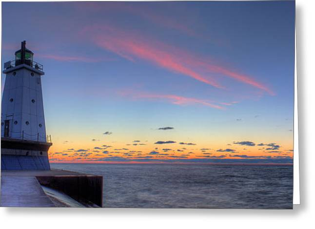 Ludington Michiga Lighthouse Greeting Card