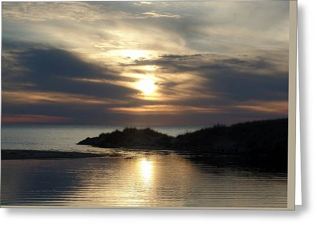 Ludington Sunset Photograph Greeting Card