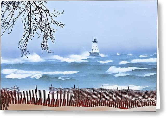 Ludington Winter Shore  Greeting Card