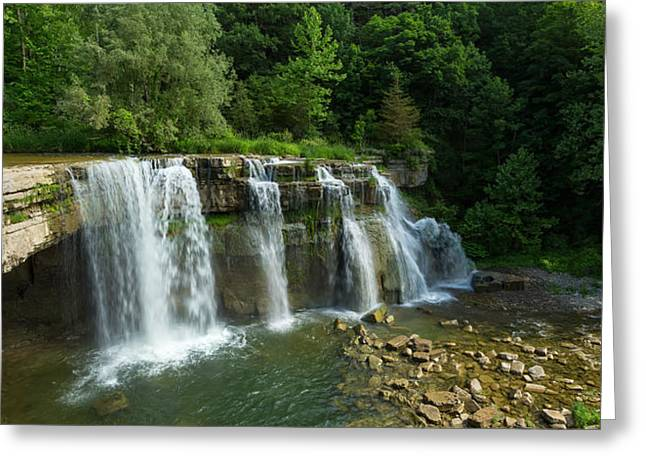 Ludlowville Falls On Salmon Creek Greeting Card