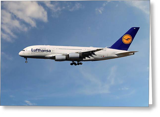 Lufthansa Airbus A380-841 Greeting Card