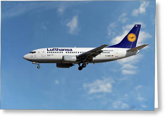 Lufthansa Boeing 737-530  Greeting Card
