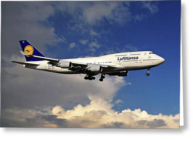 Lufthansa Boeing 747-430 Greeting Card