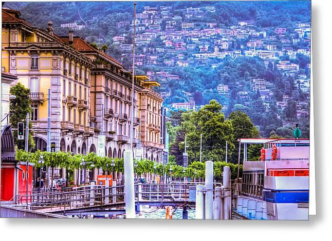 Lugano Switzerland Greeting Card by Jon Berghoff