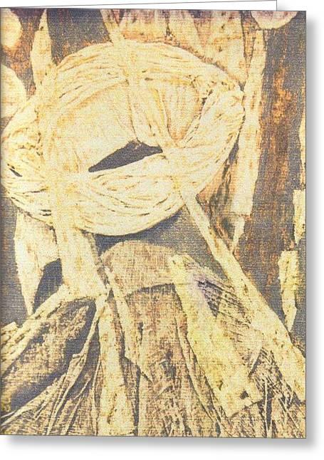 Lui 2002 Greeting Card by Halima Echaoui