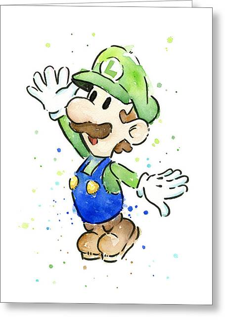 Luigi Watercolor Greeting Card