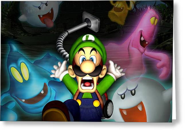 Luigi's Mansion Greeting Card